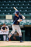 Charlotte Stone Crabs first baseman Brendan McKay (31) at bat during a game against the Bradenton Marauders on June 3, 2018 at LECOM Park in Bradenton, Florida.  Charlotte defeated Bradenton 10-1.  (Mike Janes/Four Seam Images)