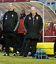 29/12/2010   Copyright  Pic : James Stewart.sct_jsp003_hamilton_v_aberdeen  .::  ABERDEEN MANAGER CRAIG BROWN AND ASSISTANT MANAGER ARCHIE KNOX  ::.James Stewart Photography 19 Carronlea Drive, Falkirk. FK2 8DN      Vat Reg No. 607 6932 25.Telephone      : +44 (0)1324 570291 .Mobile              : +44 (0)7721 416997.E-mail  :  jim@jspa.co.uk.If you require further information then contact Jim Stewart on any of the numbers above.........