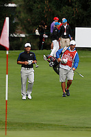 Francesco Molinari (ITA) on the 5th during the final day of the Omega European Masters, Crans-Sur-Sierre, Crans Montana, Switzerland.4/9/11.Picture: Golffile/Fran Caffrey..