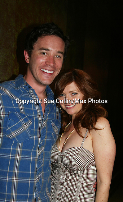 As The World Turns' Tom Pelphrey and Annie Sayre at Trent Dawson's 6th Annual Martinis With Henry on April 17, 2010 at Latitude, New York City, New York. (Photo by Sue Coflin/Max Photos)