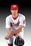 25 February 2007: Washington Nationals pitcher Mike Hinckley poses for his Photo Day portrait at Space Coast Stadium in Viera, Florida.<br /> <br /> Mandatory Photo Credit: Ed Wolfstein Photo<br /> <br /> Note: This image is available in a RAW (NEF) File Format - contact Photographer.