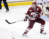Justin Braun (UMass - 27) - The Boston College Eagles defeated the University of Massachusetts-Amherst Minutemen 6-5 on Friday, March 12, 2010, in the opening game of their Hockey East Quarterfinal matchup at Conte Forum in Chestnut Hill, Massachusetts.
