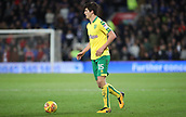 1st December 2017, Cardiff City Stadium, Cardiff, Wales; EFL Championship Football, Cardiff City versus Norwich City; Timm Klose of Norwich City with the ball