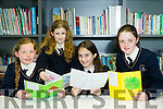 Scriobh Leabhar annual awards for Kerry schools at The Education Centre, Drumtacker on Monday. Pictured l-r  Grace Cahill, Mairead Mochan, Kiera Cahill and Ella murphy from Scoil Mhuire, Knocknagoshel.