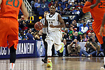 12 March 2015: Notre Dame's Demetrius Jackson. The Notre Dame Fighting Irish played the University of Miami Hurricanes in an NCAA Division I Men's basketball game at the Greensboro Coliseum in Greensboro, North Carolina in the ACC Men's Basketball Tournament quarterfinal game. Notre Dame won the game 70-63.