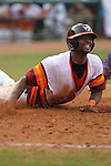 28 May 2010: #21 Austin Wates dives for home but would be called out at home plate  at NewBridge Banks Park in Greensboro, North Carolina. Virginia Tech went on to beat the Tigers 9-8. Mandatory Credit: Jim Dedmon/ Southcreek Global