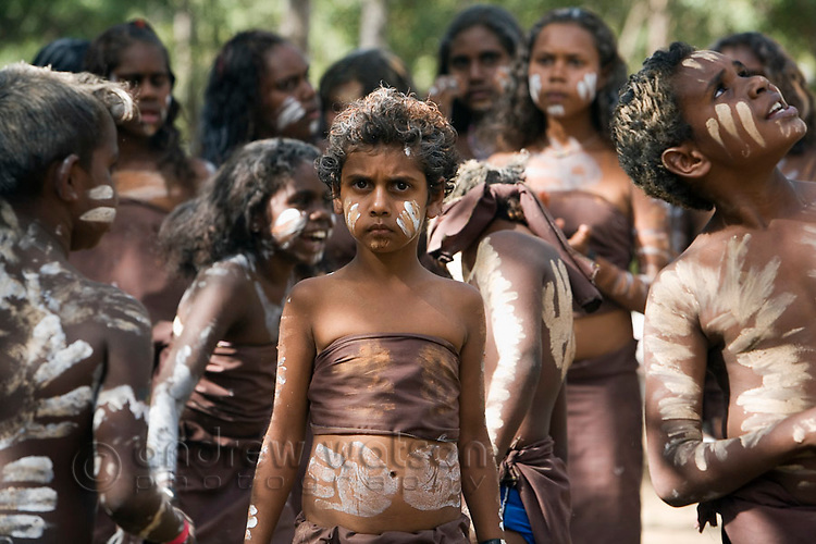 Young indigenous dancer at the Laura Aboriginal Dance Festival.  Laura, Queensland, Australia