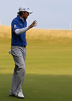 Peter Uihlein (USA) on the 11th green during Round 3 of the 2015 Alfred Dunhill Links Championship at Kingsbarns in Scotland on 3/10/15.<br /> Picture: Thos Caffrey | Golffile