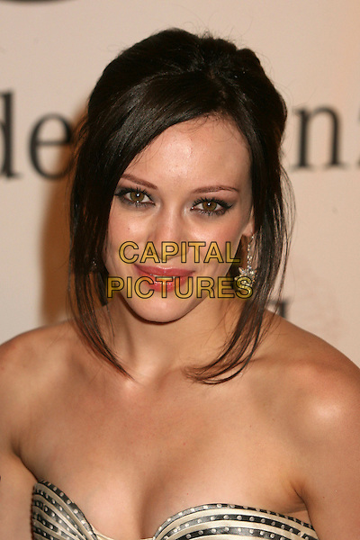 HILARY DUFF.17th Annual Carousel of Hope Ball at the Beverly Hilton Hotel, Beverly Hills, California, USA..October 28th, 2006.Ref: ADM/BP.headshot portrait strapless.www.capitalpictures.com.sales@capitalpictures.com.©Byron Purvis/AdMedia/Capital Pictures.