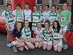 Members of the O'raghallaigh's ladies team who ran the Saint Vincent de Paul sponsored 5Km run. Photo: Colin Bell/pressphotos.ie