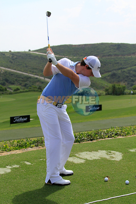Rory McIlroy (N.IRL) in action on the practice range during Day 1 of the Volvo World Match Play Championship in Finca Cortesin, Casares, Spain, 19th May 2011. (Photo Eoin Clarke/Golffile 2011)