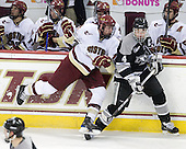 Jimmy Hayes (BC - 10), Mark Fayne (Providence - 4) - The Boston College Eagles defeated the Providence College Friars 4-1 on Tuesday, January 12, 2010, at Conte Forum in Chestnut Hill, Massachusetts.