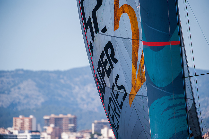 PALMA DE MALLORCA, SPAIN - 31 JUL:  during coastal race on day three of 32 Copa de Rey Mapfre de Vela at Real Club N·utico de Palma on July 30 2013 in Palma, Spain. Photo by Xaume Olleros / 52 Super Series