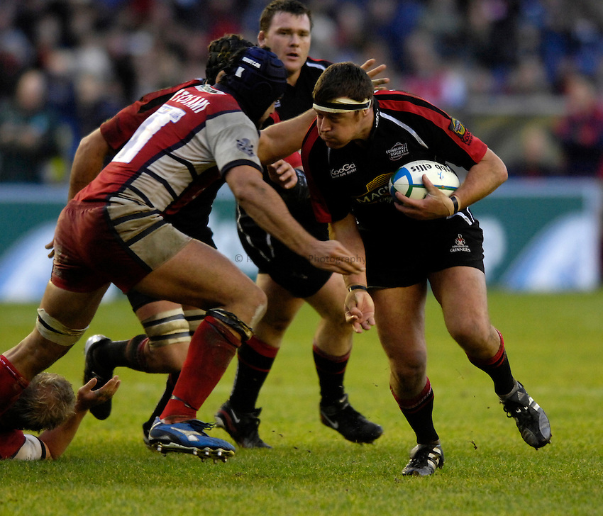 Photo: Jed Wee..Edinburgh Rugby v Gloucester Rugby. Heineken Cup. 17/12/2006...Edinburgh's Andrew Kelly.