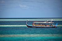 A Dhoni in the South Male Atolls, Maldives (Monday, June 15th, 2009). Photo: joliphotos.com