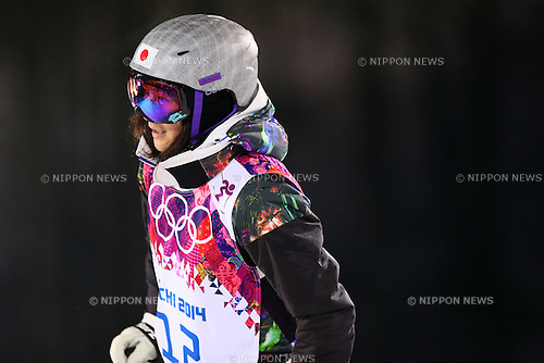 Aiko Uemura (JPN), <br /> FEBRUARY 5, 2014 - Freestyle Skiing : <br /> Women's Moguls training session <br /> at &quot;ROSA KHUTOR&quot; Extreme Park <br /> during the Sochi 2014 Olympic Winter Games in Sochi, Russia. <br /> (Photo by Yohei Osada/AFLO SPORT)
