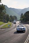 Classic vintage Jaguar car in Castleton, Debyshire, England