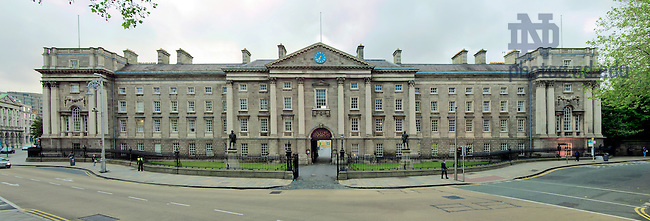 June 13, 2012; Panoramic Image of the entrance to Trinity College, Dublin, Ireland..Photo by Matt Cashore/University of Notre Dame