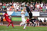 20.07.2019, Heinz Detmar Stadion, Lohne, GER, Interwetten Cup, VfL Osnabrueck vs 1. FC Koeln<br /> <br /> im Bild / picture shows <br /> <br /> Nils Körber (VfL Osnabrueck #01)<br /> Kingsley Schindler (Koeln #11)<br /> Foto © nordphoto / Kokenge