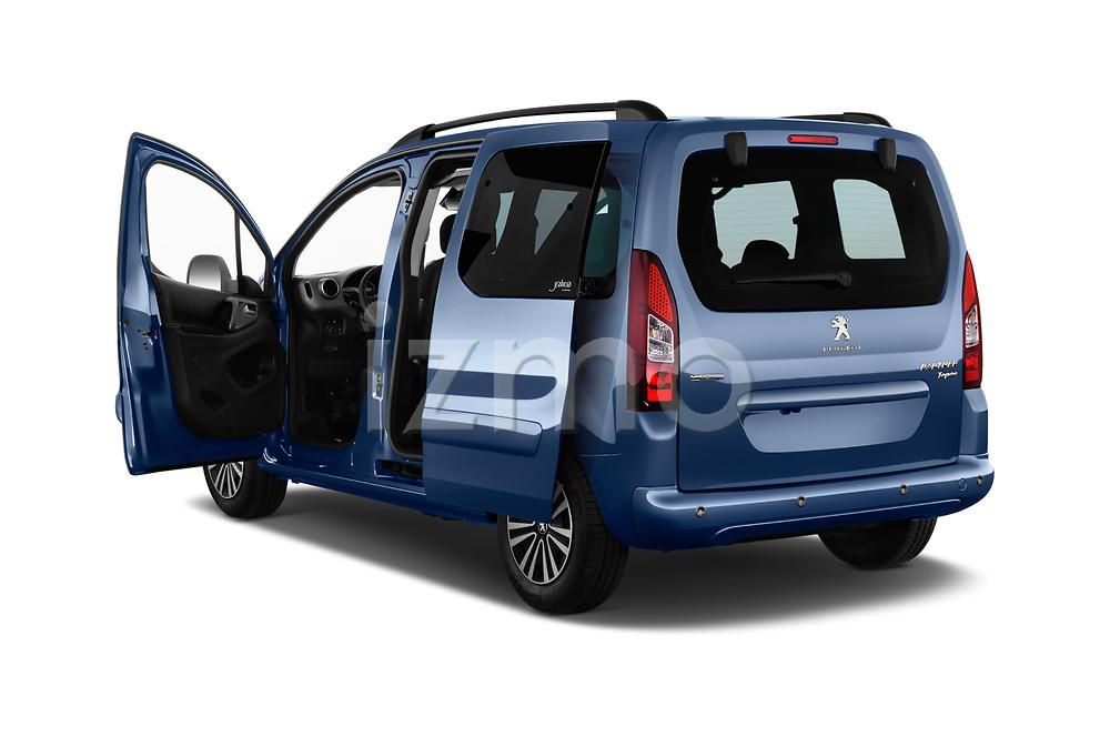 Car images close up view of a 2018 Peugeot Partner Tepee Electric Allure 5 Door Mini Van doors