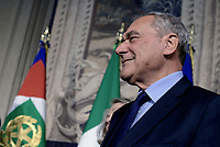 Roma, 4 Aprile 2018<br /> Pietro Grasso<br /> Primo giorno di Consultazioni per la formazione del Governo
