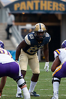 Pitt linebacker Oluwaseun Idowu. The Pitt Panthers football team defeated the Albany Great Danes 33-7 on September 01, 2018 at Heinz Field, Pittsburgh, Pennsylvania.