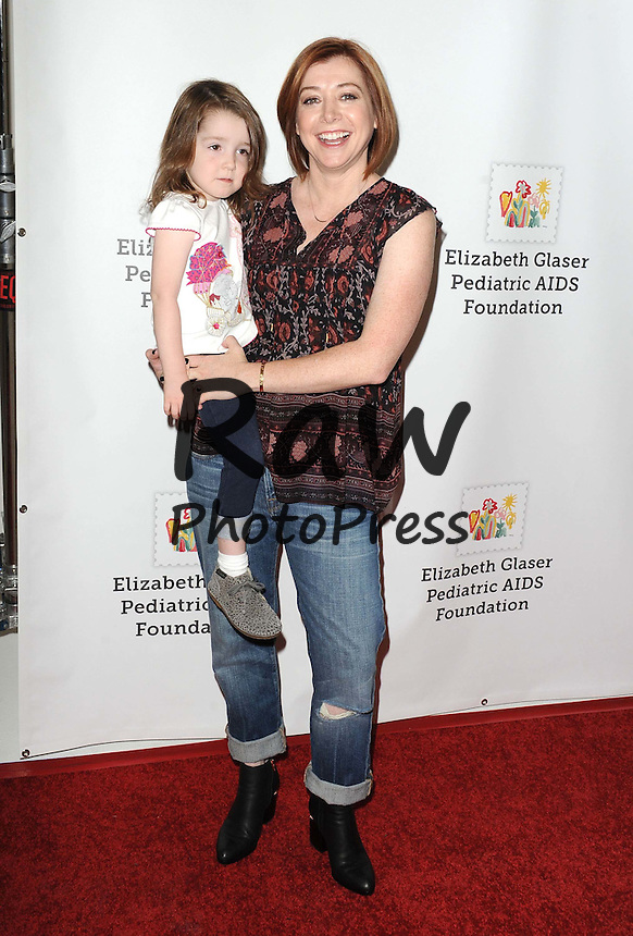 Oct. 25, 2015 - Hollywood, California, U.S. - Alyson Hannigan attending the Elizabeth Glaser Pediatric AIDS Foundation's A TIME FOR HEROES event held the Smashbox Studios in Culver City, California on October 25, 2015. 2015.