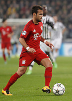 Calcio, andata degli ottavi di finale di Champions League: Juventus vs Bayern Monaco. Torino, Juventus Stadium, 23 febbraio 2016. <br /> Bayern's Juan Bernat in action during the Champions League round of 16 first leg soccer match between Juventus and Bayern at Turin's Juventus Stadium, 23 February 2016.<br /> UPDATE IMAGES PRESS/Isabella Bonotto