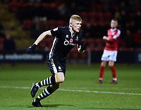 Lincoln City's Elliott Whitehouse celebrates scoring his sides fourth goal<br /> <br /> Photographer Andrew Vaughan/CameraSport<br /> <br /> The EFL Sky Bet League Two - Crewe Alexandra v Lincoln City - Saturday 11th November 2017 - Alexandra Stadium - Crewe<br /> <br /> World Copyright &copy; 2017 CameraSport. All rights reserved. 43 Linden Ave. Countesthorpe. Leicester. England. LE8 5PG - Tel: +44 (0) 116 277 4147 - admin@camerasport.com - www.camerasport.com