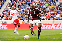 Marvell Wynne (22) of the Colorado Rapids. The New York Red Bulls defeated the Colorado Rapids 4-1 during a Major League Soccer (MLS) match at Red Bull Arena in Harrison, NJ, on March 25, 2012.