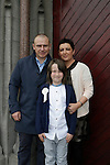 Cormac Caddell Billy and Marion at First communion in St Marys church.<br /> Picture www.newsfile.ie
