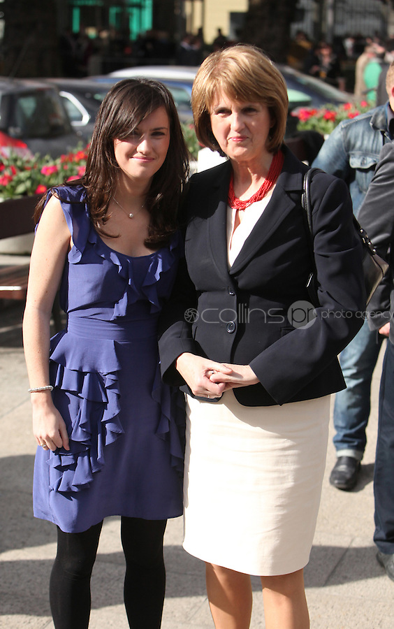 09/03/2011.Labour Party TD Joan Burton with daughter Aoife Carroll.during the 1st day of the 31st Dail.at Leinster House,  Dublin..Photo: Gareth Chaney Collins