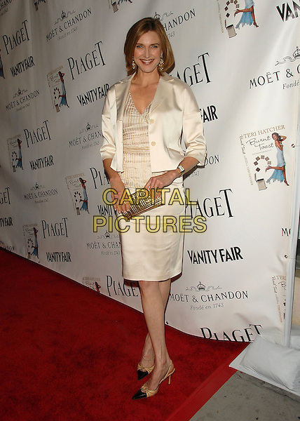 "BRENDA STRONG.The Piaget and Vanity Fair celebration of ""Burnt Toast and Other Philosophies of Life"" to benefit Step Up Women?s Network held at Aqua Lounge in Beverly Hills, California, USA..May 2nd, 2006.Ref: DVS.full length white skirt jacket satin gold clutch purse.www.capitalpictures.com.sales@capitalpictures.com.Supplied By Capital PIctures"