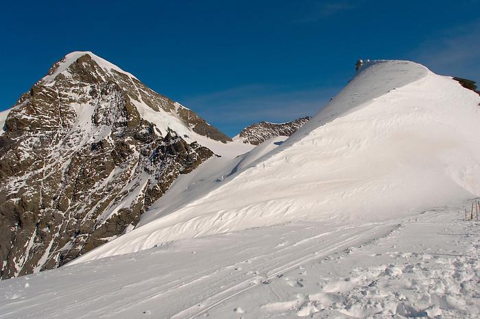 Eiger Summit in snow  - Bernese Oberland Alps - Switzerland