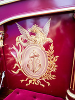 Henley Royal Regatta, Henley on Thames, Oxfordshire, 28 June - 2 July 2017.  Wednesday  11:53:17   28/06/2017  [Mandatory Credit/Intersport Images]<br /> <br /> Rowing, Henley Reach, Henley Royal Regatta.<br /> Details from The Royal Row Barge GLORIANA