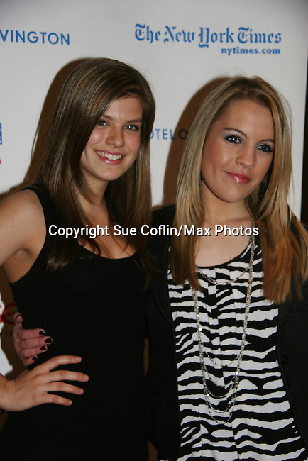One Life To Live's Kelley Missal & Kristen Alderson at the 6th Annual ABC/SoapNet salutes Broadway Cares/Equity Fights Aids An Evening of Musical Entertainment & Comedy on March 21, 2010 at the New York Marriott Marquis, New York City, New York. (Photo by Sue Coflin/Max Photos)