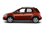 Car Driver side profile view of a 2013 Suzuki SX4 Grand Luxe Exterior 5 Door SUV 2WD Side View
