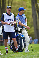 Paul Casey (GBR) has some fun with the crowd while he waits to tee off on 12 during round 4 of the 2019 PGA Championship, Bethpage Black Golf Course, New York, New York,  USA. 5/19/2019.<br /> Picture: Golffile | Ken Murray<br /> <br /> <br /> All photo usage must carry mandatory copyright credit (© Golffile | Ken Murray)
