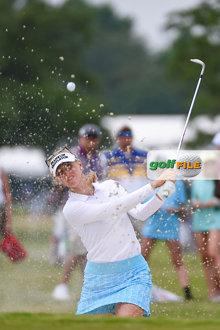 Jessica Korda (USA) hits from the trap on 9 during round 2 of the 2019 US Women's Open, Charleston Country Club, Charleston, South Carolina,  USA. 5/31/2019.<br /> Picture: Golffile | Ken Murray<br /> <br /> All photo usage must carry mandatory copyright credit (© Golffile | Ken Murray)