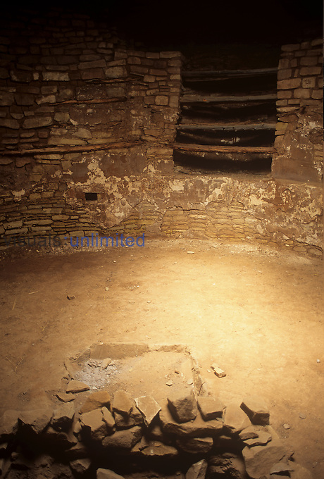 Painted Kiva, Lowry ruins, Anasazi Culture, Colorado, USA.