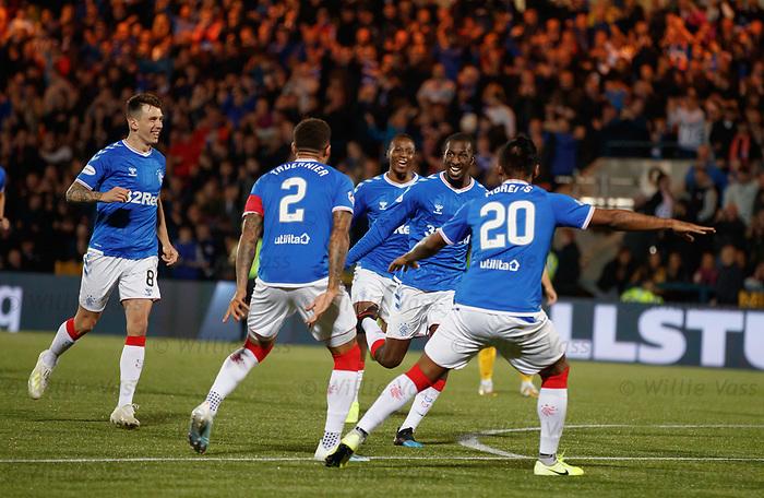 25.09.2018 Livingston v Rangers: Glen Kamara celebrates his early goal
