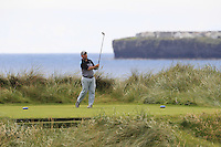 Paul O'Hanlon (Carton House) on the 4th tee during Matchplay Round 2 of the South of Ireland Amateur Open Championship at LaHinch Golf Club on Friday 22nd July 2016.<br /> Picture:  Golffile | Thos Caffrey<br /> <br /> All photos usage must carry mandatory copyright credit   (© Golffile | Thos Caffrey)