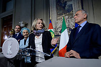 Roma, 4 Aprile 2018<br /> Riccardo Nencini, Emma Bonino, Pietro Grasso e Loredana De Petris.<br /> Primo giorno di Consultazioni per la formazione del Governo