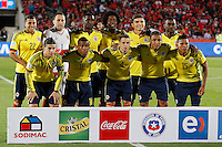 SANTIAGO DE CHILE- CHILE-12-11-2015: Los jugadores de Colombia, posan para una foto, durante partido de la fecha 3 válido por la clasificación a la Copa Mundo FIFA 2018 Rusia jugado en el Estadio Nacional Julio Martinez de la ciudad de Santiago de Chile. /  The players of Colombia pose for a photo,  during match for the date 3 valid for the 2018 FIFA World Cup Russia Qualifier played at Julio Martinez Nacional Stadium in Santiago de Chile city. Photo: VizzorImage / Marcelo Hernandez/Photosport / Cont.