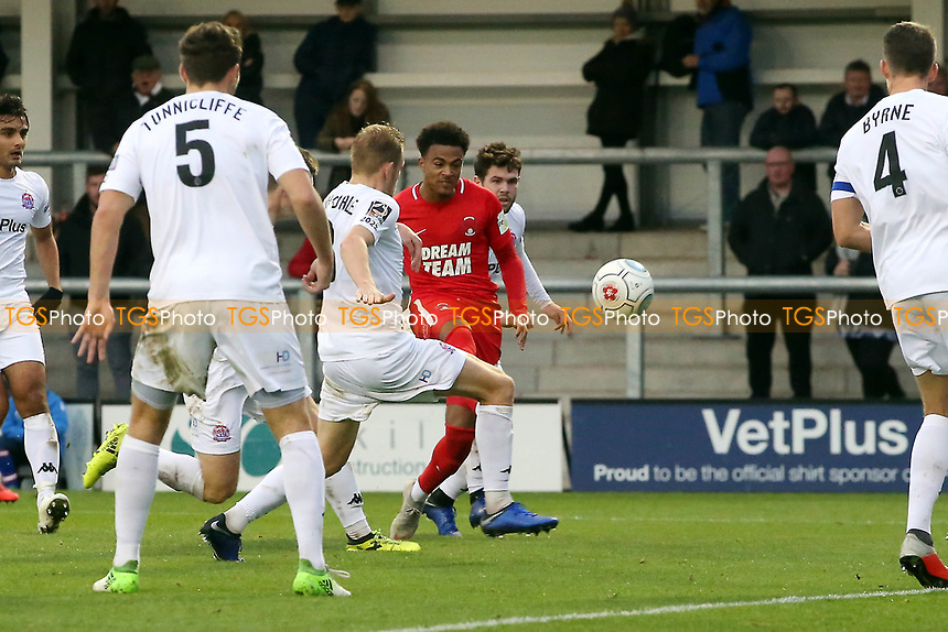 O's JOsh Koroma scores O's 2nd goal during AFC Fylde vs Leyton Orient, Vanarama National League Football at Mill Farm on 3rd November 2018
