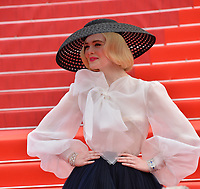 "CANNES, FRANCE. May 21, 2019: Elle Fanning at the gala premiere for ""Once Upon a Time in Hollywood"" at the Festival de Cannes.<br /> Picture: Paul Smith / Featureflash"