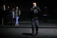 Pictured:<br /> Re: Dress rehearsal of &quot;We'Re Still Here&quot;, a play created by Rachel Trezise, Common Wealth and the National Theatre Wales about steelworkers, which will be performed in Byass Works, a disused industrial unit, in Port Talbot, south Wales, UK.