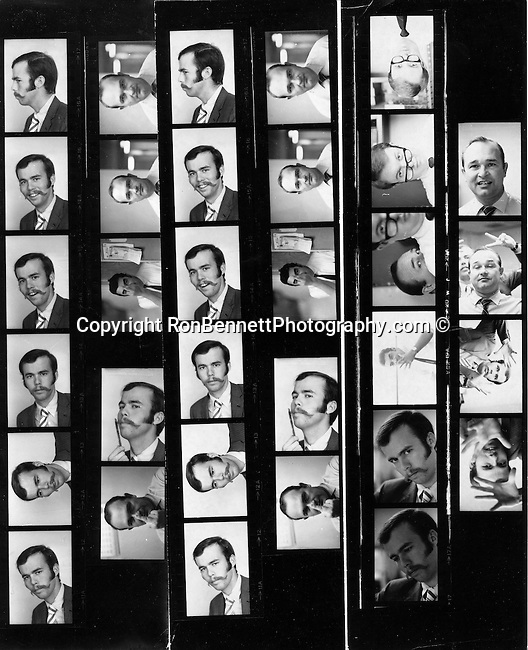 UPI Newspictures contact sheet of staff Los Angeles California,