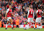 1st October 2017, Emirates Stadium, London, England; EPL Premier League Football, Arsenal versus Brighton; Alexis Sanchez of Arsenal prepares for kick off
