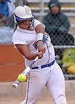 Western Nevada College Wildcats' Briauna Carter hits against College of Southern Idaho at Edmonds Sports Complex, in Carson City, Nev., on Friday, Feb. 27, 2015. CSI won the opener 11-2.<br /> Photo by Cathleen Allison/Nevada Photo Source